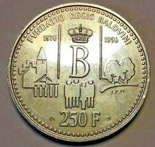 20 ans 1976/1996 fondation roi baudouin 250FR Argent 925/1000 de Diametre 33mm