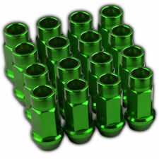 16 PC GREEN LUG EXTENDED RACING LUG NUTS FOR TIRES/WHEELS/RIMS 50MM 12X1.5 A