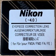 Nikon Eyepiece Auxiliary Lens -4.0 for Fm3A NewFm2 Fa Fe2 [New] #A83