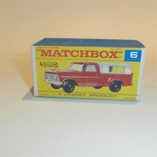 Matchbox Lesney  6 d Ford Pickup Truck empty Repro (AS) F style Box