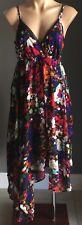 Gorgeous CROSSROADS Multi Colour/Print Sleeveless Asymmetric Hem Dress Size 12