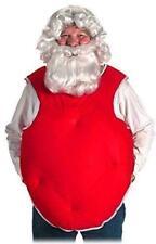Papá Noel Traje Relleno Rojo Poliéster Inversa Chaleco Estilo Atar Acolchado