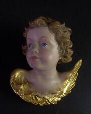 Engelskopf Holz geschnitzt & gefasst ( Nr.3 ) Blattgold