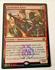 Quicksmith Rebel FOIL Rare Magic Foil Launch Promo MTG Magic the Gathering Card