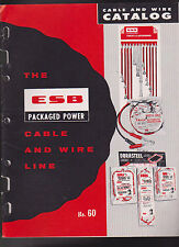 Electric Storage Battery ESB Catalog Cable & Wire Line #60 1960