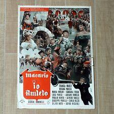IO, AMLETO fotobusta poster Macario Simonelli Shakespeare Corte Reggia CW46