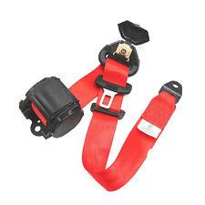 Retractable 3 Point Car Seat Belt Lap Safety Belt Assembly Universal Adjustable
