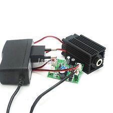 405nm 50mw Bule/Violet Focus Cross Laser Diode Module +12V Adapter + Driver TTL