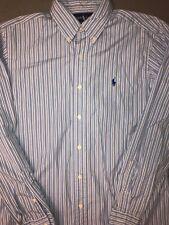 Polo Ralph Lauren Men's Button Down Shirt Blue Size Medium