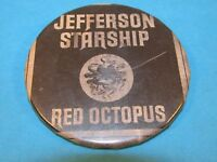 Vintage Jefferson Starship Band Rock Group Red Octopus Pinback Button Badge Pin~