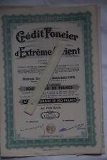 lot de 20 actions Crédit Foncier d'Extrême-Orient.   Actions de 250 francs