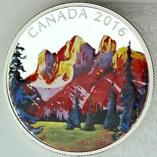 2016 $20 Canadian Landscape Series - The Rockies, 1 oz. 99.99% Pure Silver Proof