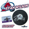 "RYAN WILSON Signed COLORADO AVALANCHE Puck w/COA ""NEW"" #2"