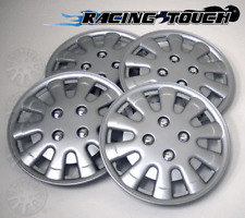"Wheel Cover Replacement Hubcaps 15/"" Inch Metallic Silver Hub Cap 4pcs Set #510"