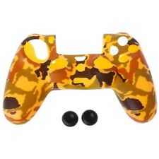 Camouflage Soft Silicone Cover + 2 Joystick Caps For Dualshock 4 PS4 Controller