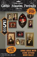 Halloween Gothic Haunted Mansion Portraits Scene Setter Add Ons Wall Decoration