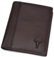 Vintage Genuine Leather Wallet Mens Coin Zipper Pocket Credit Card Womens Purse