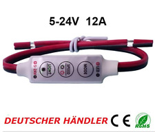 █► MINI DIMMER CONTROLLER REGOLATORE PER LED STRIP STRISCIA LED 5 - 24v a 12a