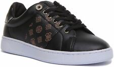Guess Womens Rajeena Active Lace up Trainer In Black Brown Size UK 3 - 7