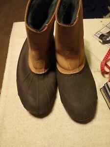 Mens Redhead Waterproof Slip On Boots Tan & Brown Size 12