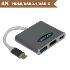 Type C USB 3.1 to USB-C HDMI Cable USB 3.0 Adapter 3 in 1 Hub Pro 4K For McBook