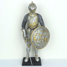 "Medieval Knight Parade Armor w/ Sword Shield Figurine Miniature Statue 13""H New"