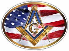 """Freemasonry Masons Masonic Symbol Illuminati Car Bumper Vinyl Sticker Decal 6X4"""""""