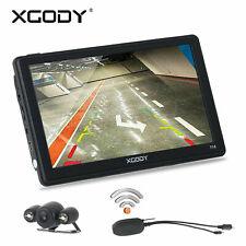 XGODY 7'' LKW PKW GPS Navigationsgerät Auto Nav 3D Karte Mit Funk Rückfahrkamera