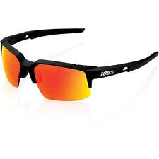 100% Speedcoupe - Soft Tact Black - Hiper Red Mirror Sunglasses