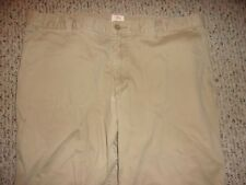 Dockers Mens 40X32 Beige Flat Front Pants 100% Cotton