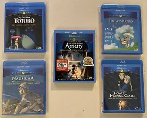 Studio Ghibli Blu-ray Lot Miyazaki Disney Totoro Nausicaa Arriety Howl's Castle