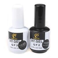 Pro 15ml Soak Off Primer Base Gel & Top Coat for Nail Art Soak Off UV Polish Set