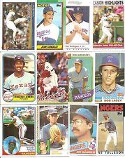 (50) Different Texas Rangers BB Cards NODUPES 80-05 Nolan Ryan Jenkins Rodriguez