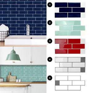 3D Peel and Stick Tile Stickers Kitchen Wall Tile Bathroom Mosaic Self Adhesive