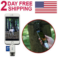 Trail Camera SD Card Reader Micro USB 2.0 OTG Port for iPhone Android Smartphone