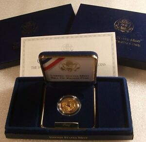 1993-W US Mint ~ BILL of RIGHTS ~ $5 GOLD 1/4 OZ. PROOF ~ ORIG GOV PACK