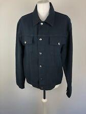 Mens Hugo Boss Jacket Coat Denim Look Black Cotton L Summer Holiday Party