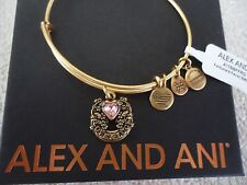 Alex and Ani FORTUNE'S FAVOR Russian Gold Charm Bangle New W/ Tag Card & Box
