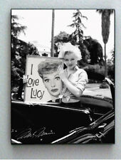 Framed Marilyn Monroe holding I Love Lucy Ball faux signed autograph Limited Ed