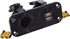 "New Double Usb & Power Socket Panel sea-dog 426505-1 3-1/2"" x 1"" x C 1-5/8"" Inpu"
