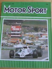 MOTOR SPORT MAGAZINE SEP 1979 AUSTRIAN GP REAR BRAKES F1 FORD CORTINA LOUIS COAT
