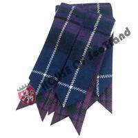 Highland Scottish Kilt Hose Sock Flashes Pride Of Scotland Tartan Garter Pointed