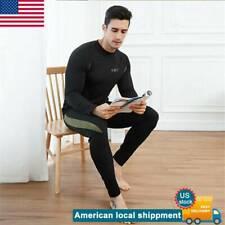 Men`s Thermal Underwear Set Winter Warm Ultra-Soft Inner Wear Fleece Line Set US
