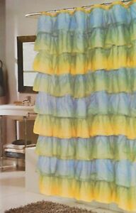 "Gypsy Shabby Ruffled Chic Tier Shower Curtain 70""x72"""