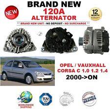 Per Opel Vauxhall Corsa C 1.0 1.2 1.4 2000-ON 120 A ALTERNATORE ** OE Quality **