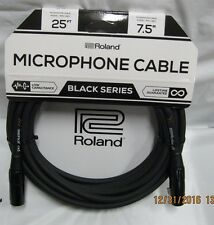 microphone 25  ft cable black series rmc b 25  hiz mic cord microphone roland
