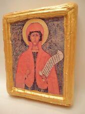 Saint Paraskeva Paraskevi  Rare Eastern Russian  Orthodox Icon on Aged Wood