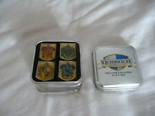Harry Potter Set Of 4 Enamel Pin Badges Quidditch World Cup In Tin Mint Cond