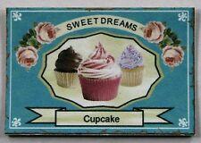 Cupcake Werbeschild Miniatur 1:12  Puppenstube 1:18 Puppenhaus Kaufmannsladen