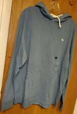 Abercrombie & Fitch X-Large BLUE Hoodie Shirt NWT